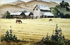 Title: A Quiet Moment on the Farm , Date: c. 1940s , Size: 15