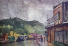 Title: Walking in the Rain, Northern California , Size: 14