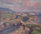 Title: Joseph Kleitsch/Aliso Overpass, Laguna Beach , Date: circa 1929 , Size: 25x30 , Medium: Oil on Canvas