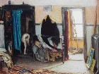 Title: Joseph Kleitsch/The Artist's Studio, Chicago , Date: c.1917 , Size: 32x46 , Medium: Oil on Canvas